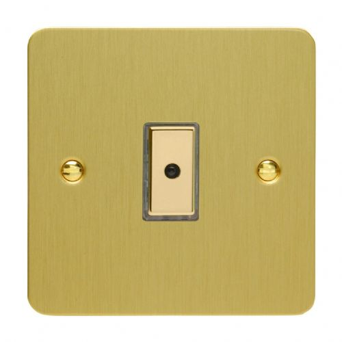 Varilight JFBE101 Ultraflat Brushed Brass 1 Gang V-Pro Remote/Touch Master LED Dimmer 0-100W
